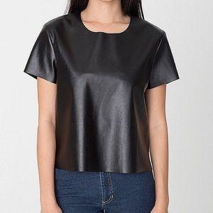 American apparel vegan leather tee